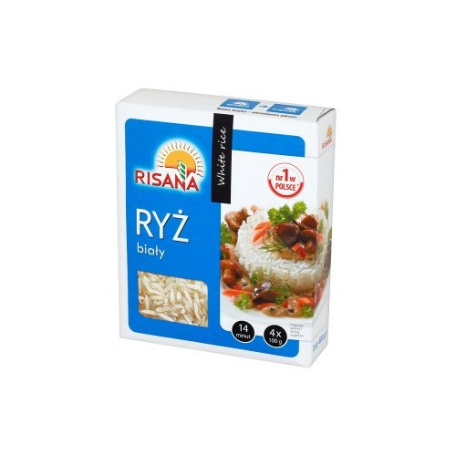 Risan white rice bags 4x100g