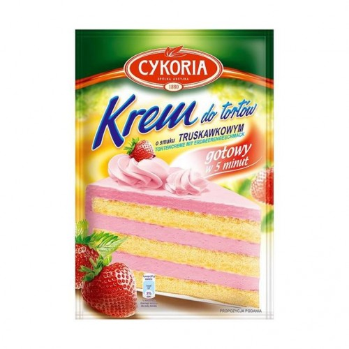 Cream cakes with strawberry flavor 100g